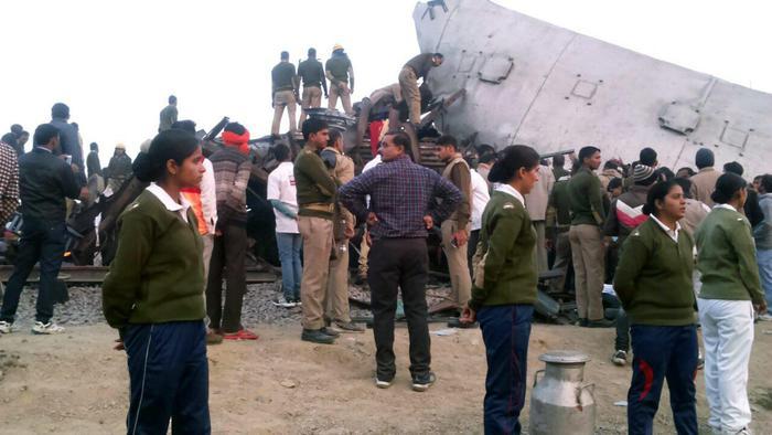 Treno deragliato in India