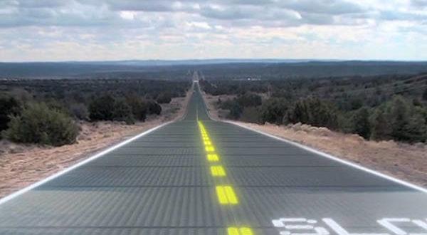 Strada pannelli solari in Francia
