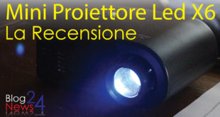 Mini Proiettore Led X6 video recensione