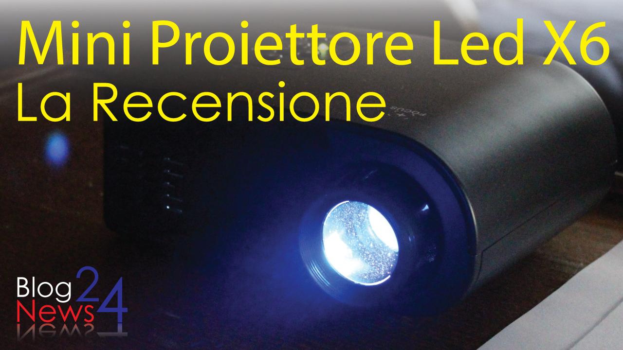 Mini proiettore led x6 video recensione for Proiettore led