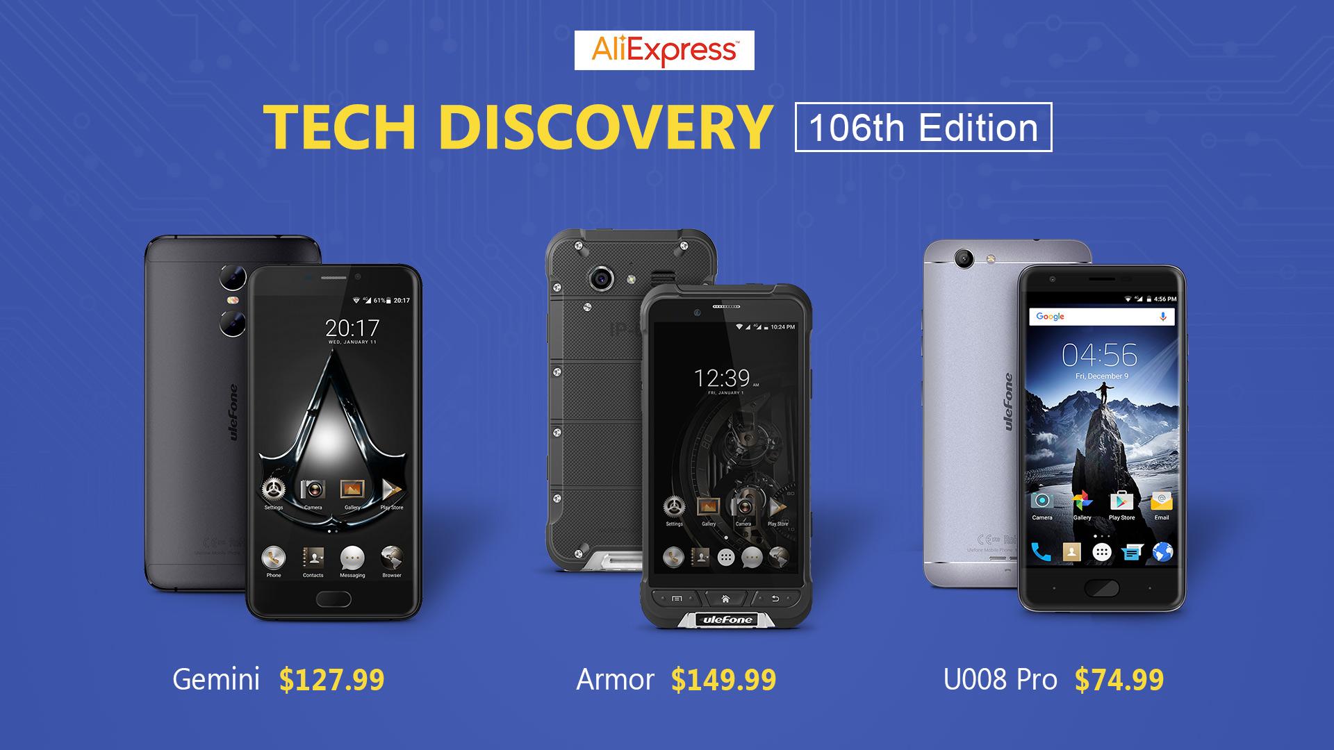 Offerte Aliexpress Ulefone Gemini, Ulefone U008 Pro e Ulefone Armor
