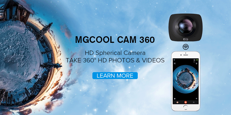 MGCOOL CAM 360. Video a 360 gradi anche sott'acqua