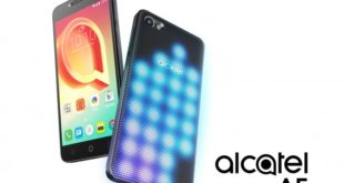 Alcatel A5 LED, con cover ricoperta di led, programmabile e personalizzabile