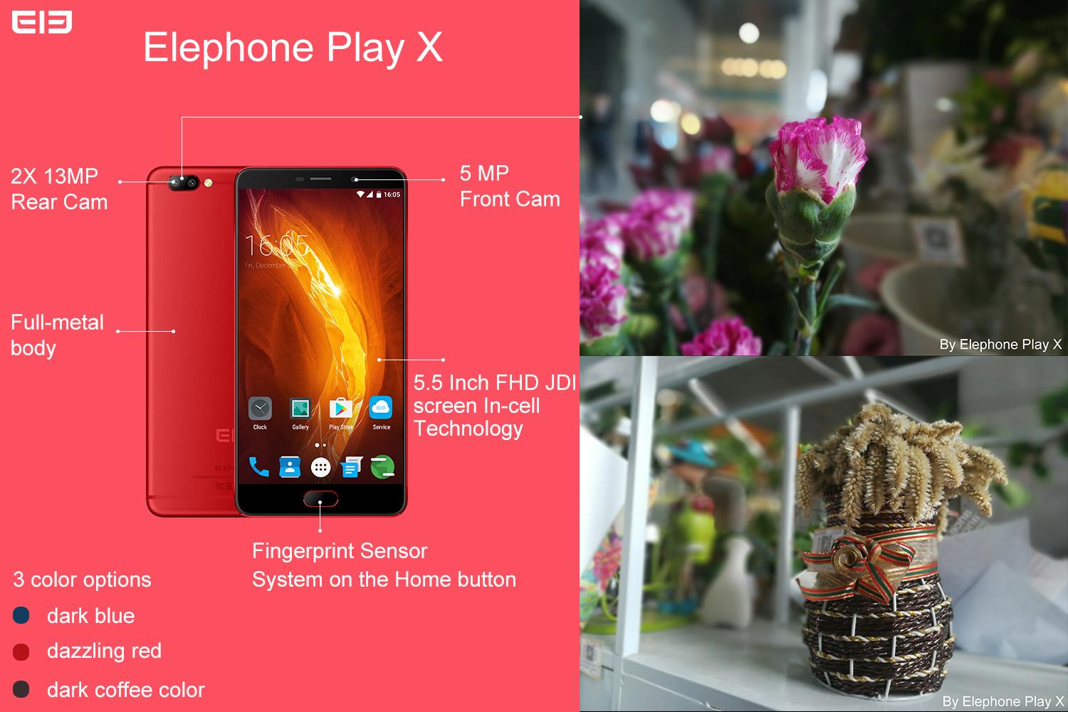 Elephone Play X, specifiche