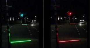 Strisce led negli attraversamenti pedonali un paese olandese