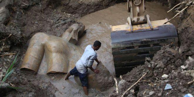 Scoperta statua gigante Ramses in Cairo