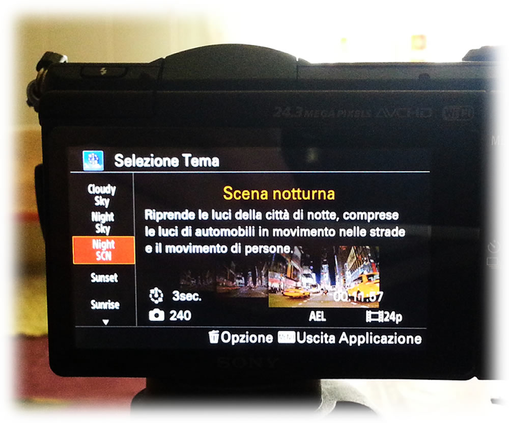 Sony Alpha 5100, applicazione Time-Lapse