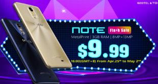 Geotel Note in offerta a 9,99 dollari sul sito di tomtop