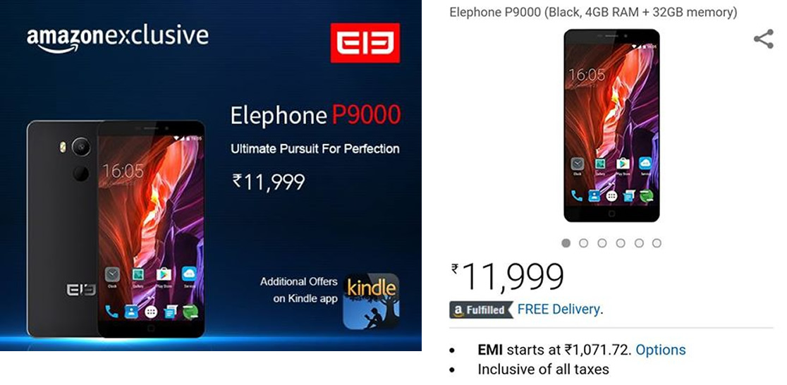 Elephone P9000, in offerta su Amazon India