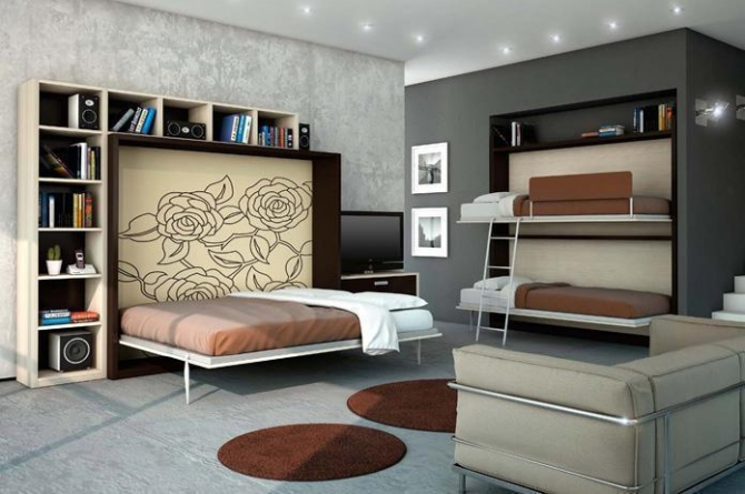 Il letto a scomparsa per risparmiare spazio - Letto a parete a scomparsa ...