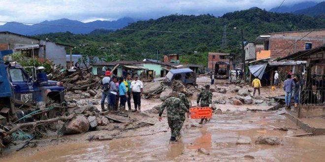 Maltempo in Colombia.