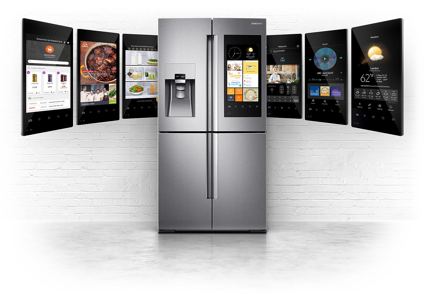 samsung family hub il frigo smart con android arriva in. Black Bedroom Furniture Sets. Home Design Ideas