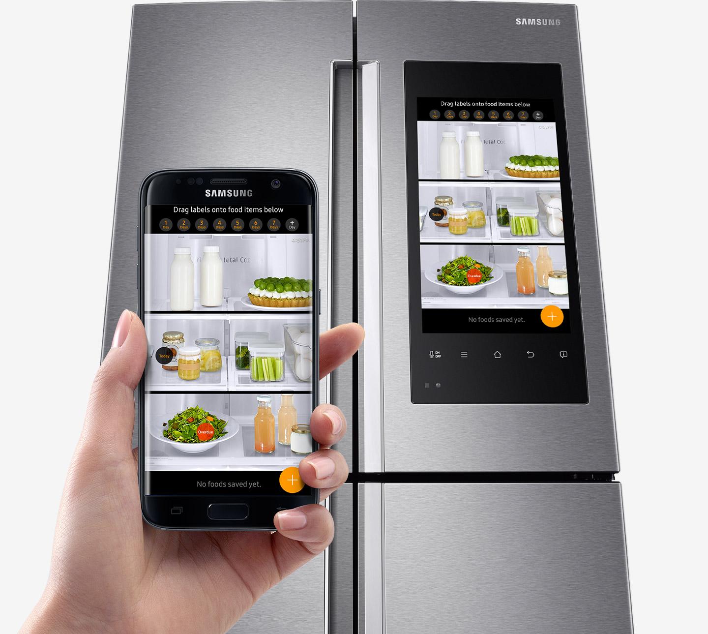 samsung family hub il frigo smart con android arriva in italia. Black Bedroom Furniture Sets. Home Design Ideas