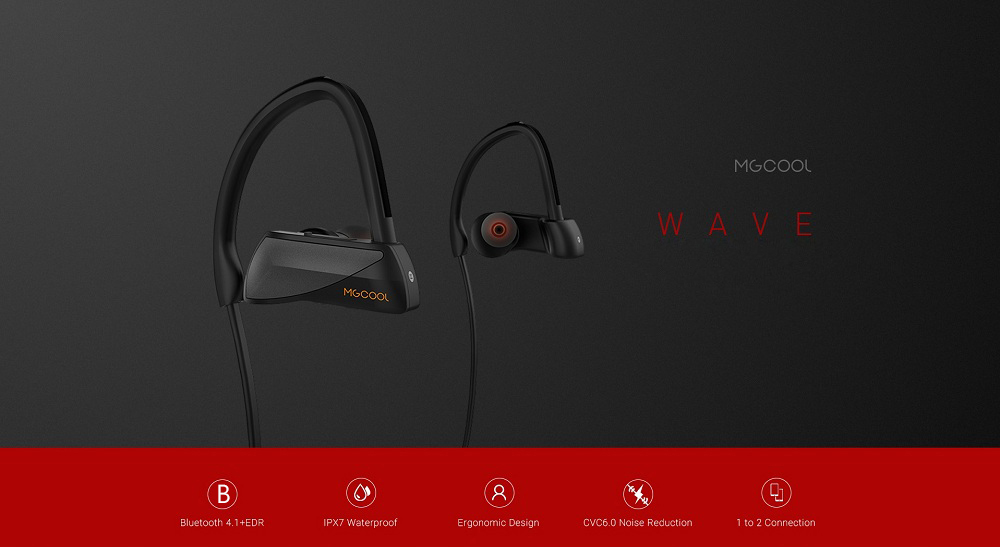 MGCOOL Wave auricolare bluetooth impermeabile