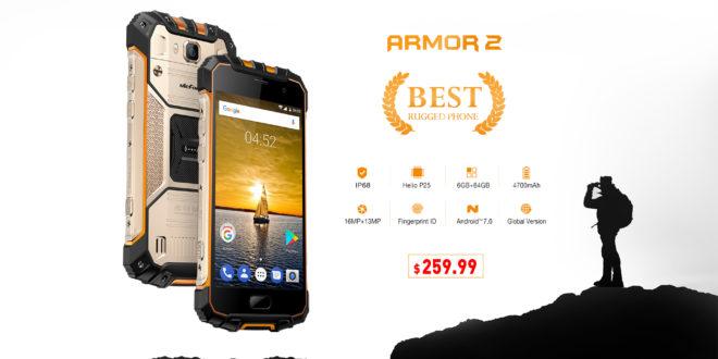 Ulefone Armor 2, con 6GB di Ram. In prevendita al prezzo di 259.99 dollari