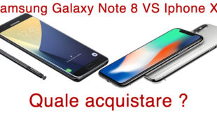 Samsung Galaxy Note 8 vs Iphone X