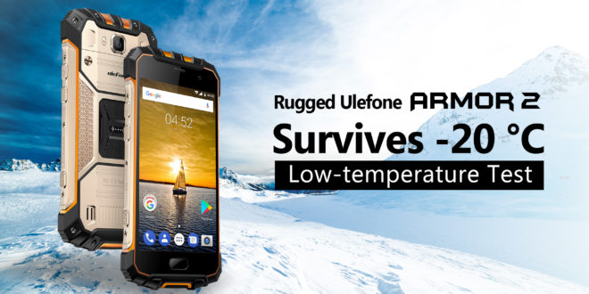 Ulefone Armor 2. Video test alla temperatura di -20 gradi centigradi.