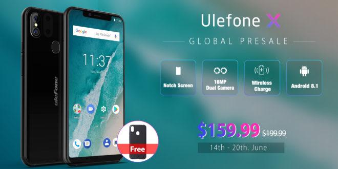 Ulefone X, in prevendita a 159 dollari.
