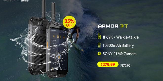 ULEFONE ARMOR 3T. SMARTPHONE CON WALKIE-TALKIE IN OFFERTA SPECIALE.