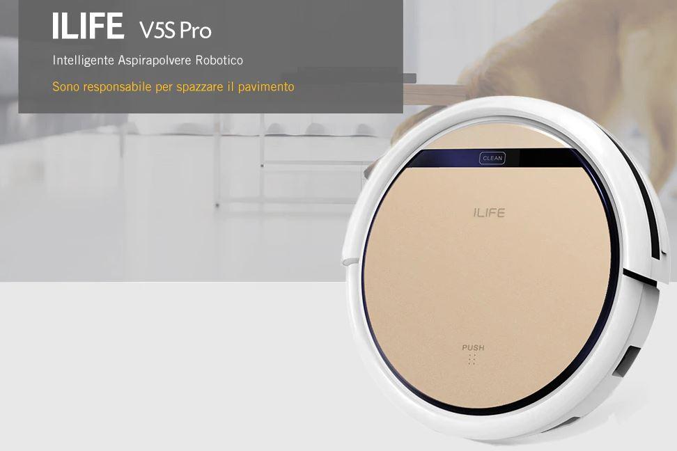 ILIFE V5S Pro Aspirapolvere Robotico Intelligente