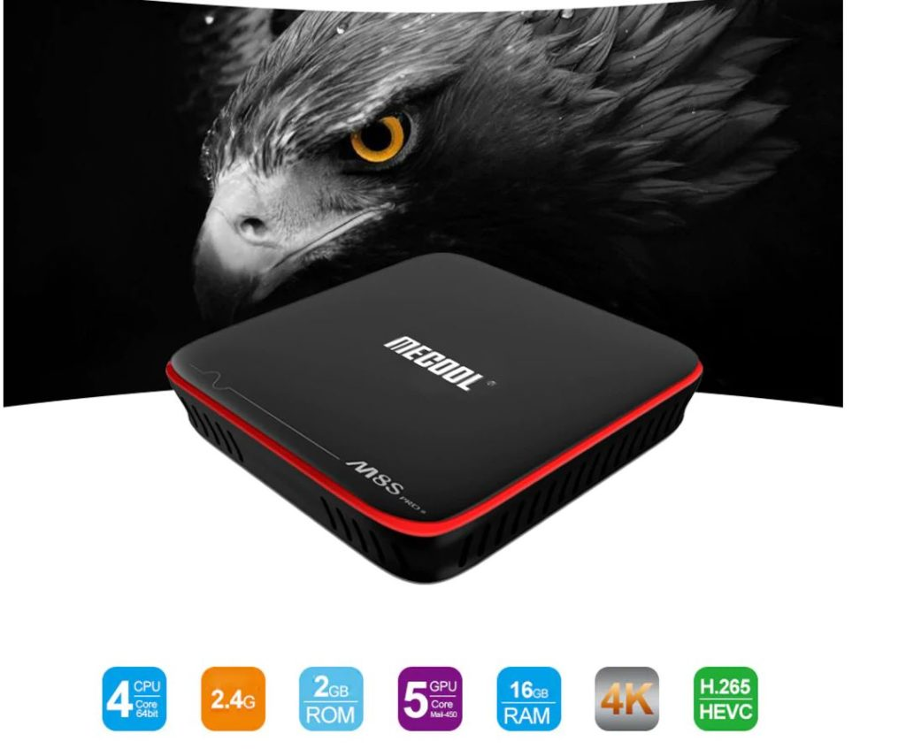 Mecool M8S PRO W 2.4G con Android TV OS Supporto TV Box