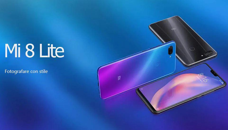 Xiaomi Mi 8 Lite 4G Smartphone 6GB di RAM 128GB di ROM