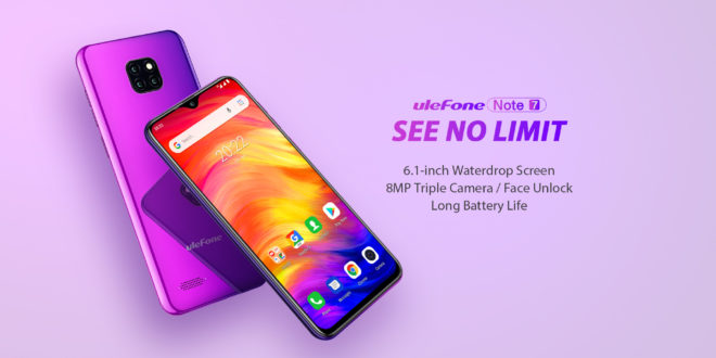 Ulefone Note 7. Tripla fotocamera e schermo Waterdrop!